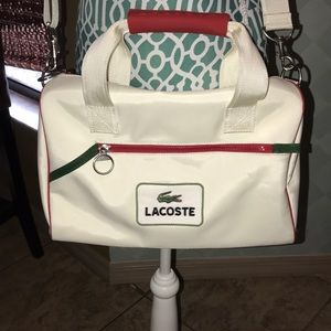 Lacoste Duffle Bag Red and White